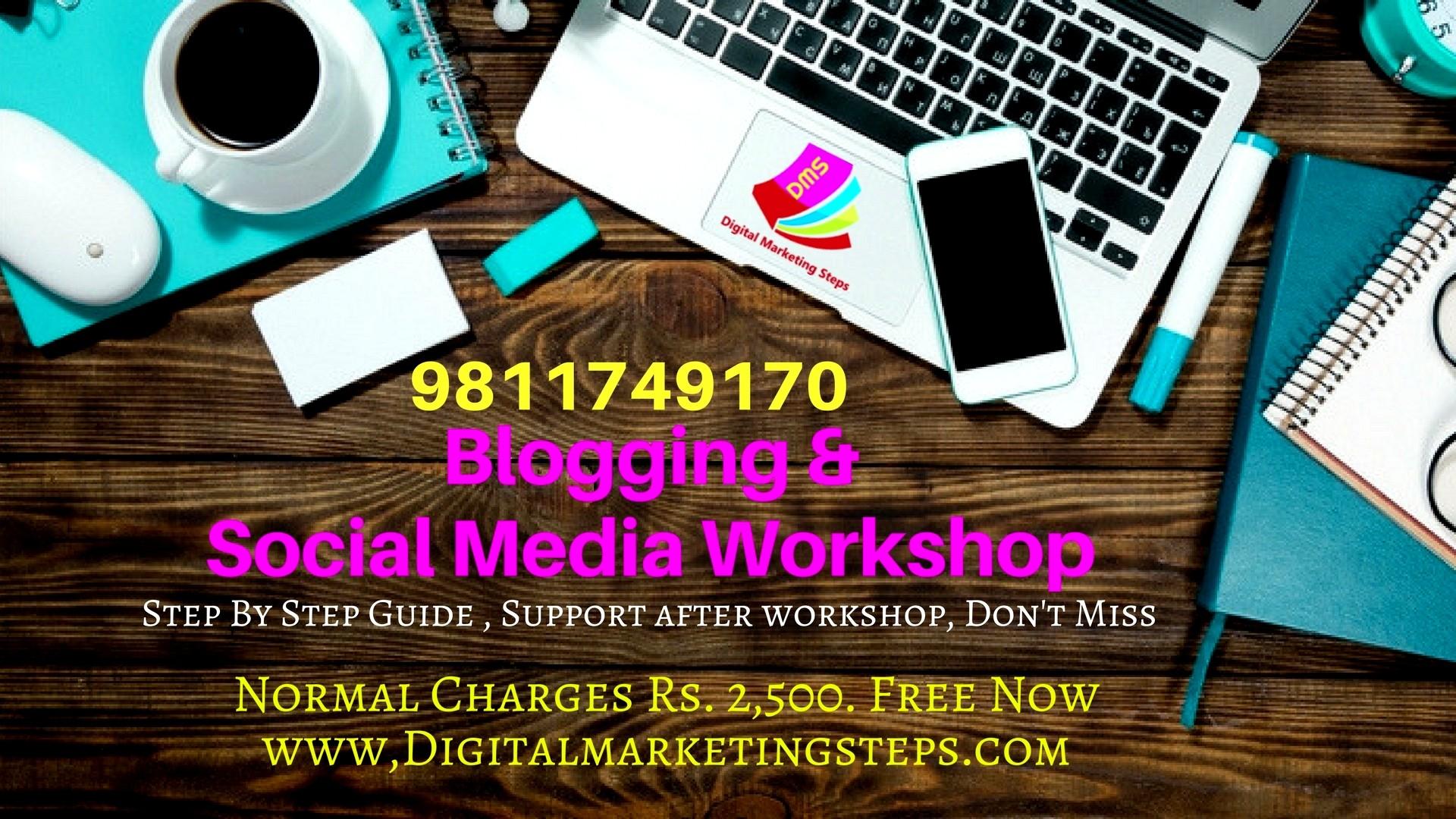 blogging workshop by Ashish Aggarwal