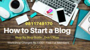 Be A blogger workshop