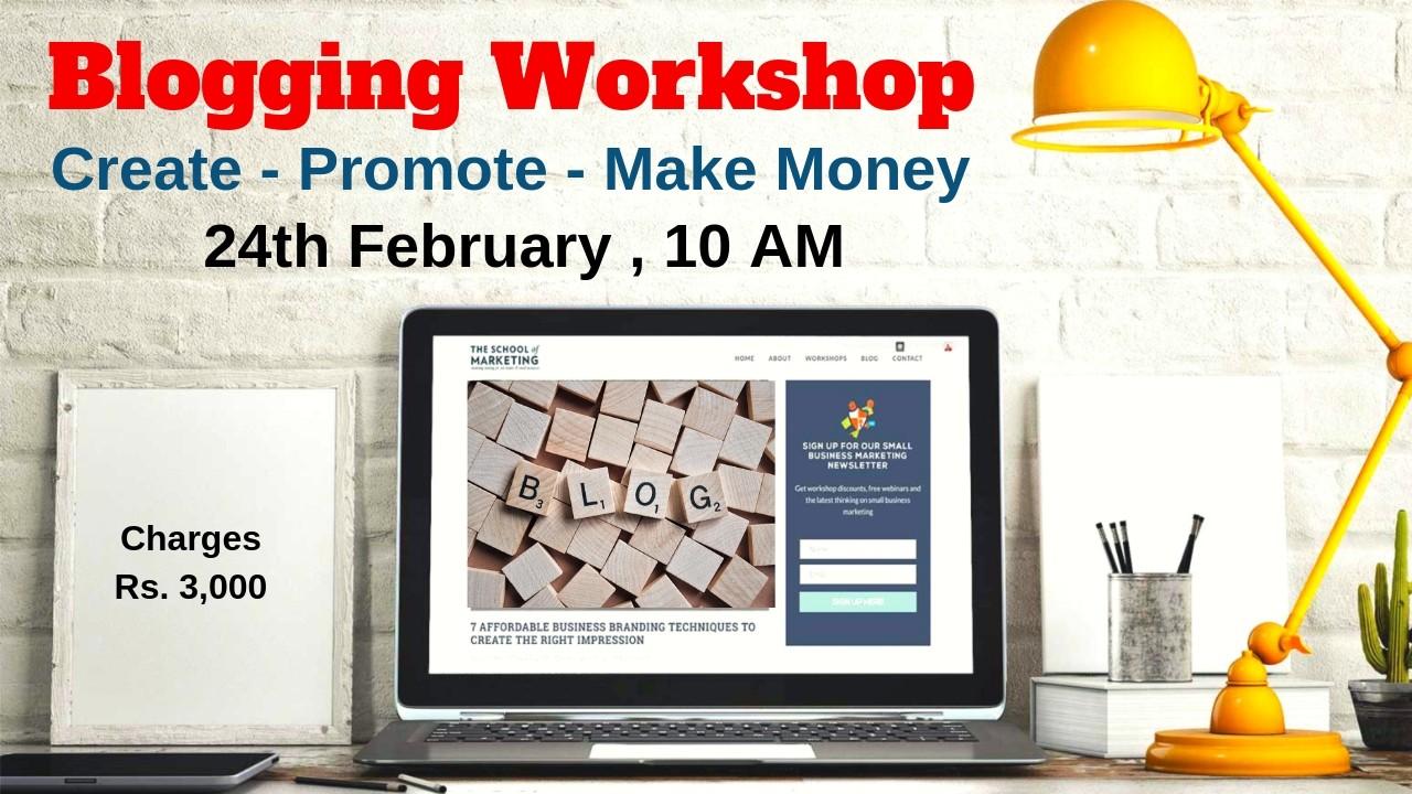 Blogging and seo workshop in Delhi